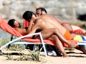 Cristiano Ronaldo and Nereida Gallardo enjoy their holiday