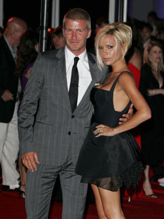 David and Victoria Beckham at The Beckham's 'Welcome To America' party at the Museum of Contemporary Art, Los Angeles, America - 22 Jul 2007