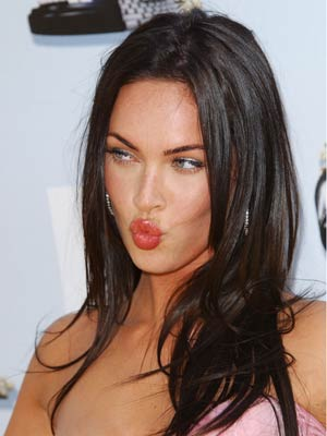 Megan Fox perfects her pout