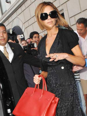 Victoria seems confused as she leaves her hotel in New York.