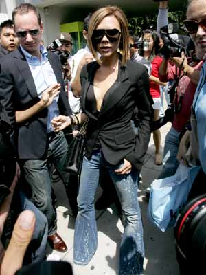 Victoria Beckham tries to look arty