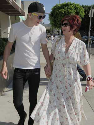 Sharon Osbourne clearly approves of Luke Worrell