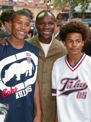 Chris Eubank and sons Christopher Jnr and Sebastian