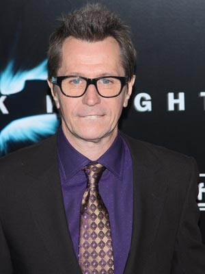 The Dark Knight premiere: Gary Oldman holds it all in