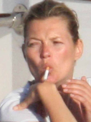 Kate Moss sparks up