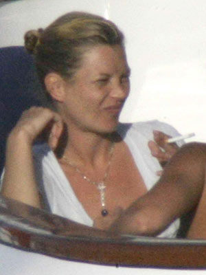 Kate Moss goes up in smoke