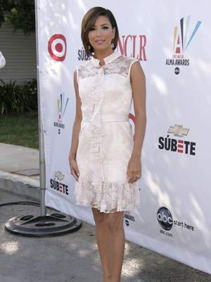 Eva Longoria goes for the lacy look