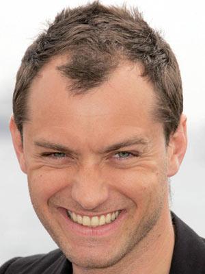 Jude's hairline creeps back