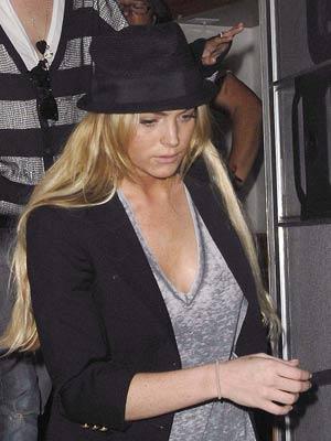 Lindsay Lohan taken to hospital