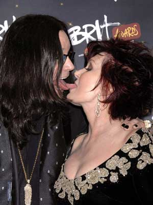 Hottest celebrity snoggers: Ozzy and Sharon Osbourne make a tongue sandwich