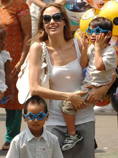 Angelina Jolie can multi-task