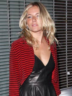 Sienna Miller lets her hair down