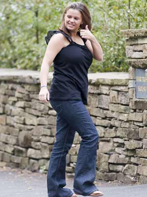 Kerry Katona goes for a stroll