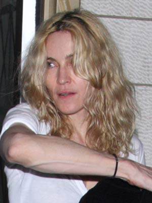 Madonna looks tired