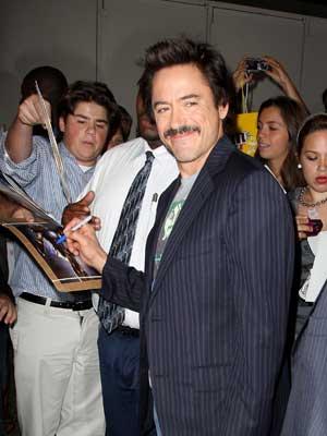 Nice moustache, Robert Downey Jr