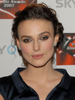 Keira Knightley perfects her pout
