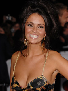Jennifer Metcalfe flashes her pearly whites