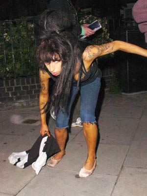 Amy Winehouse is back on the town