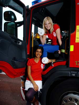 Hollyoaks stars promote fire safety