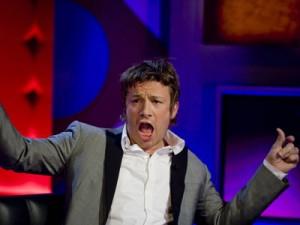Jamie Oliver looks stunned