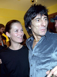 Kate Moss and Ronnie Wood