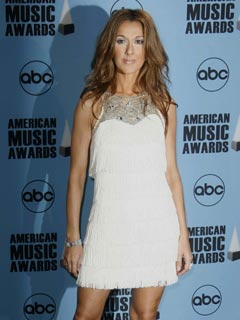 Celine Dion looks angelic in white