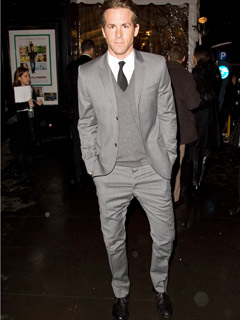 Ryan Reynolds looks dashing
