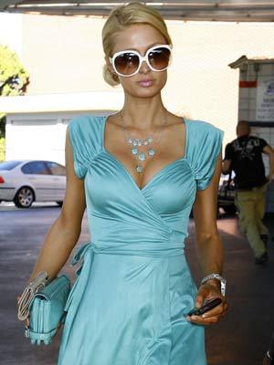 Paris Hilton hits the petrol station