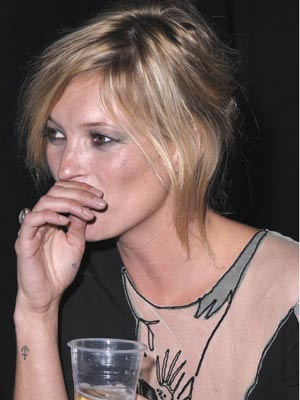 Kate Moss parties at London Fashion Week