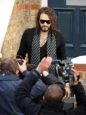 Russell Brand faces the music