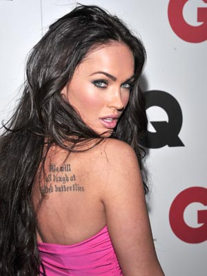 Megan Fox shows off her ink