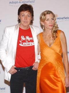 Sir Paul McCartney and Heather Mills