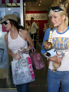 Lindsay Lohan out shopping with Paris Hilton