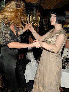 Kate Moss and Kelly Osbourne
