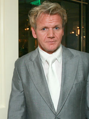 TV chef Gordon looks an odd colour at a celebration of his  new restaurant Gordon Ramsay At The London in Los Angeles.
