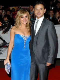 Tina O'Brien and Ryan Thomas get close