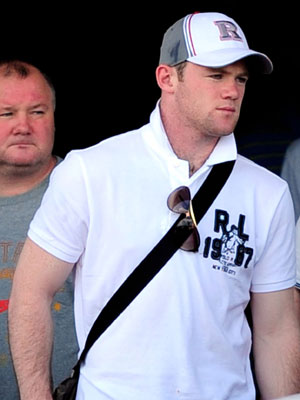 Wayne Rooney in Ibiza for his stag do