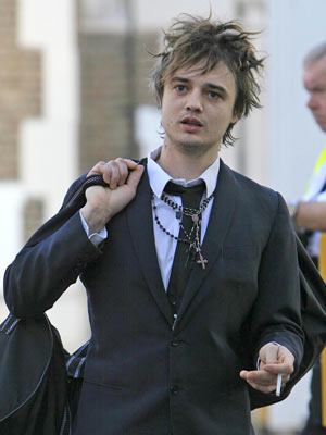 Celebrity smoker: Pete Doherty