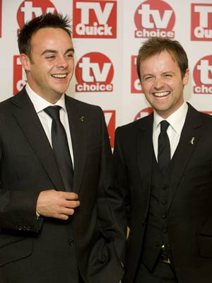TV Quick Awards: Ant and Dec look happy