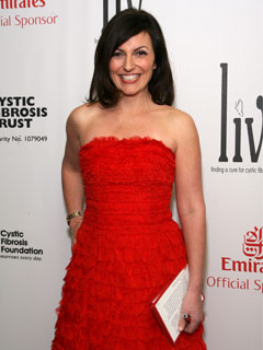 Davina McCall shows her support