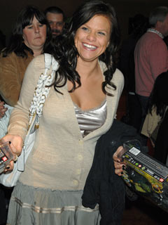 Jade Goody is all smiles