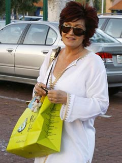 Sharon Osbourne hits the shops