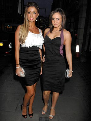 Chantelle Houghton and Chanelle Hayes scrub up well