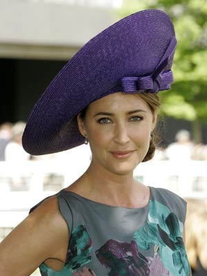 Lisa Snowdon chooses a huge hat for the occasion