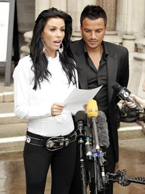 Jordan and Peter Andre at the High Court