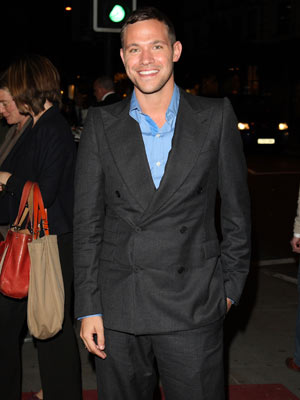 Will Young lets out a huge smile
