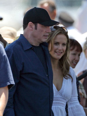 John Travolta and wife Kelly Preston | John Travolta and wife Kelly Preston in LA