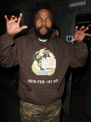 Mr T | Mr T feels his way | Pictures | Now Magazine | Celebrity Gossip
