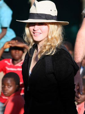 Madonna   Madonna lands in Malawi to adopt again   pictures   now magazine   celebrity gossip