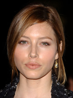 Jessica Biel perfects her pout